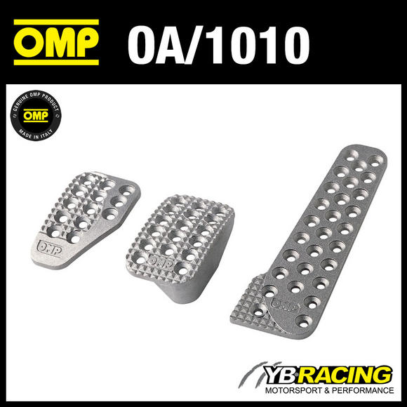 OA/1010 OMP RACING ALUMINIUM PEDAL SET - SANDBLASTED - FOR RACE RALLY CARS!