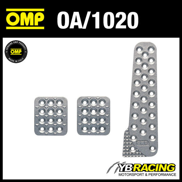 OA/1020 OMP RACING ALUMINIUM PEDAL SET - SANDBLASTED - FOR RACE RALLY CARS!
