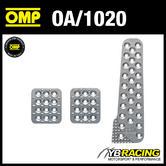 OA/1020 OMP RACING ALUMINIUM PEDAL SET - SANDBLASTED - FOR RACE RALLY CARS!