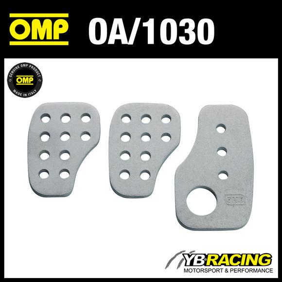 OA/1030 OMP RACING ALUMINIUM PEDAL SET - SMOOTH ALUMINIUM - FOR RACE RALLY CARS!
