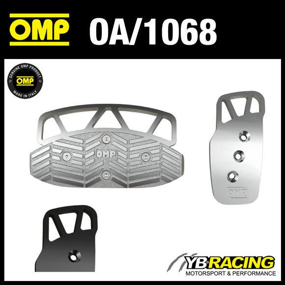 OA/1068 OMP ALUMINIUM 2 PEDAL SET FOR AUTOMATIC CARS in BLACK or SILVER COLOUR