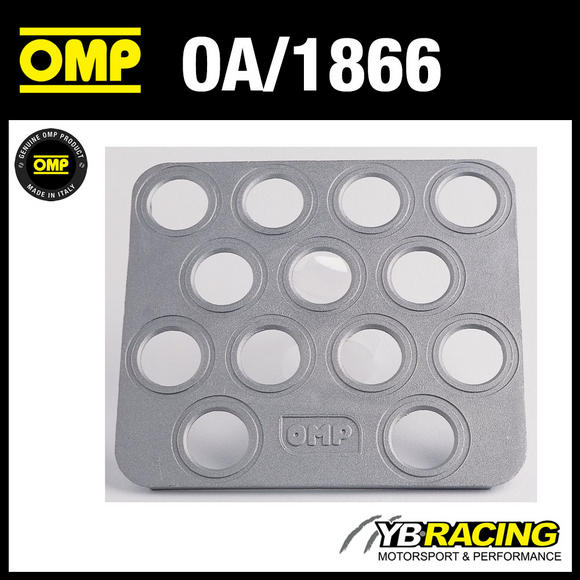 OA/1866 OMP RALLY CO-DRIVERS FOOTREST ADJUSTABLE ANGLE - SANDBLASTED ALUMINIUM