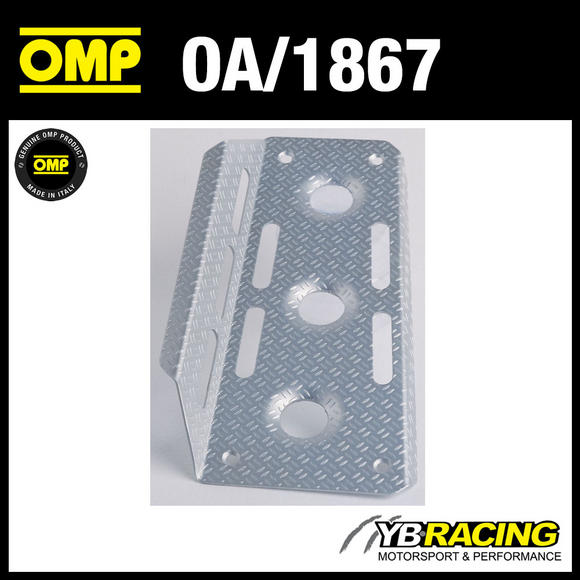 OA/1867 OMP RACING RALLY DRIVERS LEFT FOOTREST - SANDBLASTED DRILLED ALUMINIUM