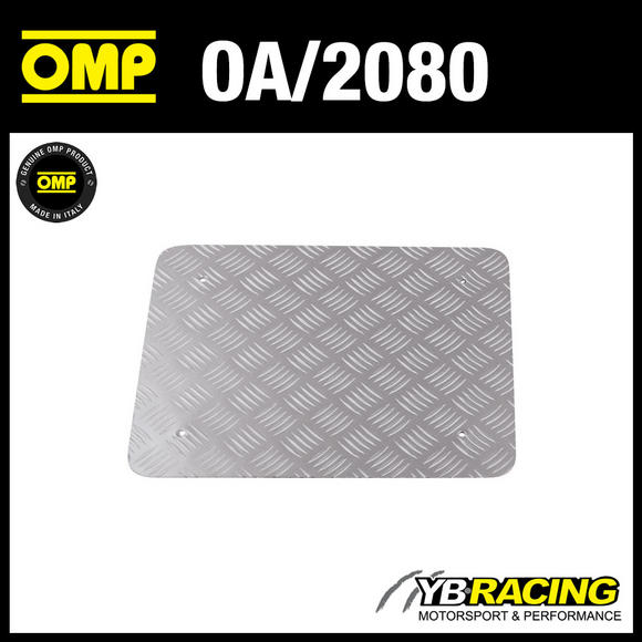 OA/2080 OMP UNIVERSAL FLAT FOOTREST - KNURLED ALUMINIUM - FOR RACE RALLY CARS!