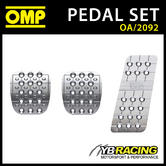OA/2092 OMP RACING ULTRA LIGHT ANODIZED SILVER PEDAL SET - FOR RACE RALLY CARS!