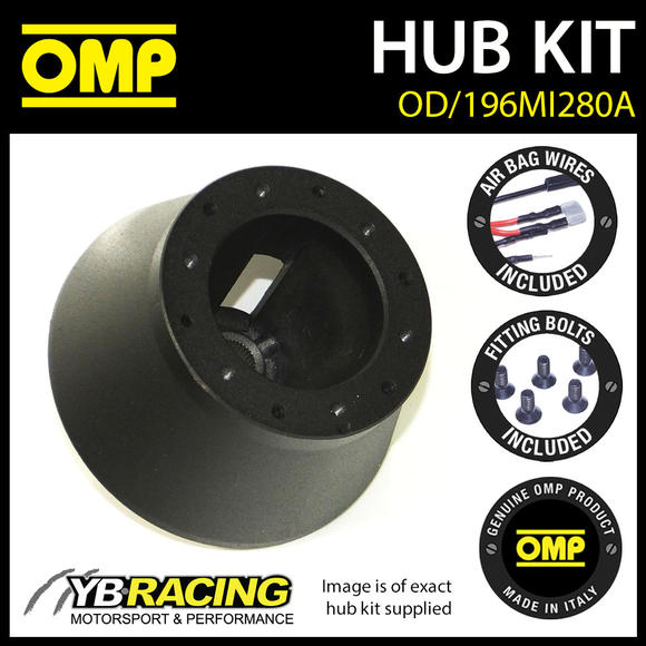 OD/1960MI280A OMP RACING STEERING WHEEL HUB BOSS KIT (ALSO FITS SPARCO & MOMO)