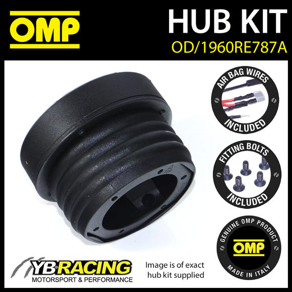 OD/1960RE787A OMP RACING STEERING WHEEL HUB BOSS KIT (ALSO FITS SPARCO & MOMO)