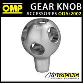 ODA/2002 OMP RACING LIGHTWEIGHT GEAR KNOB SILVER ANODIZED ALUMINIUM M8-M10 65mm