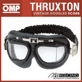 SC066 OMP RACING THRUXTON VINTAGE GOGGLES FOR CLASSIC CAR DRIVER! ADULT ONE SIZE