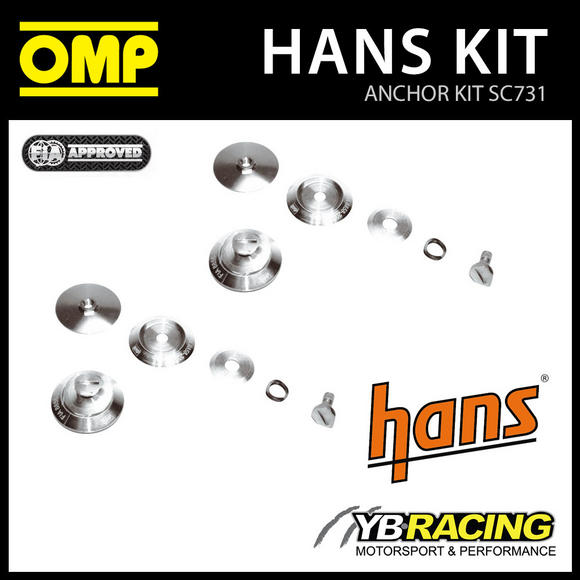 NEW! SC731 OMP RACING HANS DEVICE ANCHOR KIT for OMP PRE-DRILLED RACE HELMETS