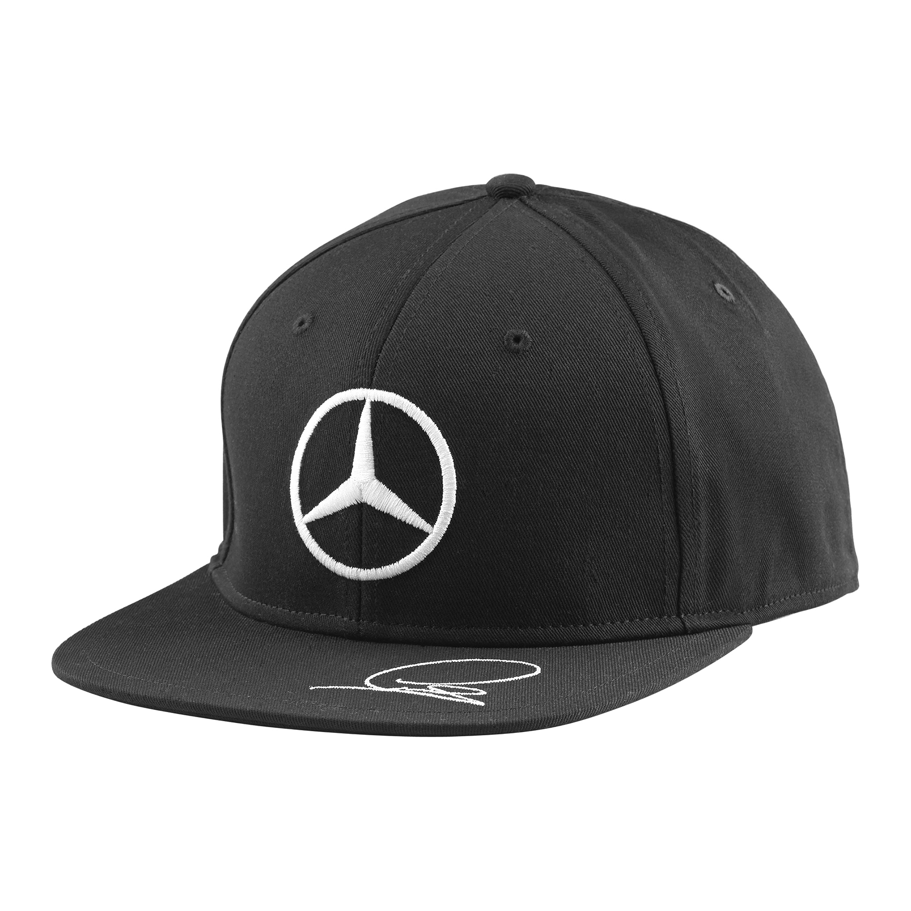 2015 mercedes amg lewis hamilton flat brim cap black or white adult size ebay. Black Bedroom Furniture Sets. Home Design Ideas