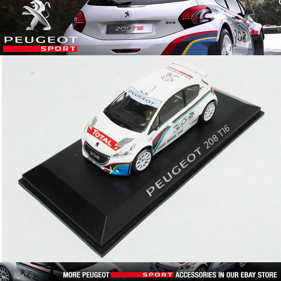 NEW! NOREV PEUGEOT SPORT 208 T16 RALLY CAR 1/43 SCALE MODEL CAR in CASE Thumbnail 1