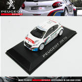 NEW! NOREV PEUGEOT SPORT 208 T16 RALLY CAR 1/43 SCALE MODEL CAR in CASE