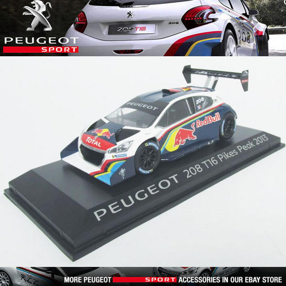 NEW! NOREV PEUGEOT SPORT 208 T16 PIKES PEAK 2013  1/43 SCALE MODEL CAR in CASE Thumbnail 1