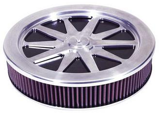 "66-5110 K&N KN CUSTOM ASSEMBLY [10 SPOKE ROUND DESIGN; 14""OD, 3""H (DROP BASE KIT Preview"