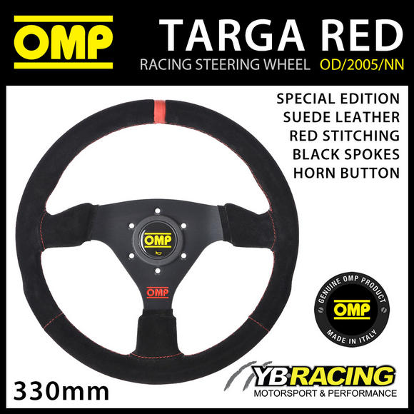 OMP SPECIAL EDITION TARGA RED STEERING WHEEL