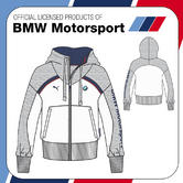 SALE! BMW MOTORSPORT M-SPORT LADIES WOMENS FULL ZIP SWEATSHIRT JUMPER