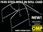 AB/105P/292 OMP ROLL CAGE FIAT 124 SALOON 66-74 [6-POINT BOLT IN] FIA APPROVED