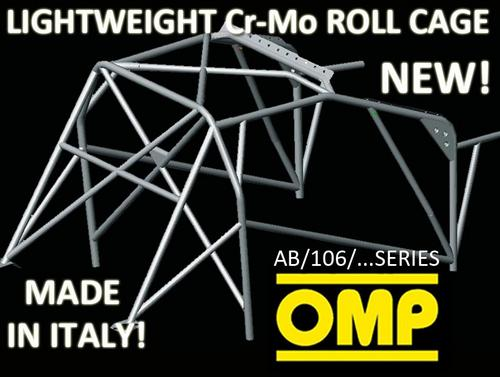 FORD ESCORT 92- OMP ROLL CAGE MULTI-POINT CR-MO WELD IN AB/106/68A