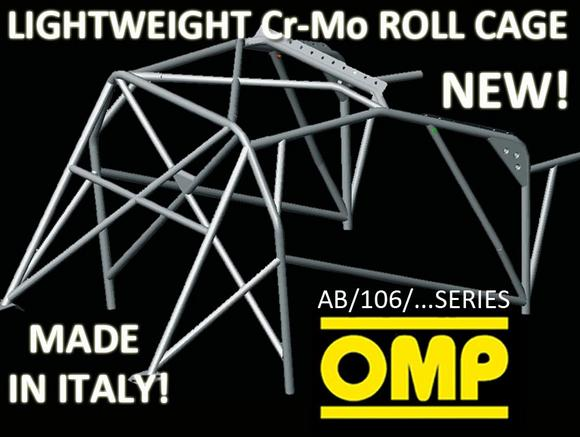 PEUGEOT 205 GTI 83-98 OMP ROLL CAGE MULTI-POINT CR-MO WELD IN AB/106/126