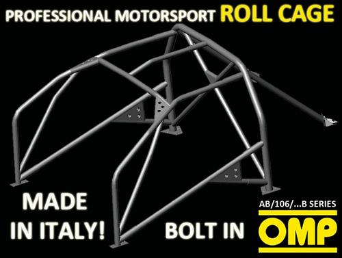 VAUXHALL ASTRA F MK3 91- OMP ROLL CAGE CR-MO MULTI-POINT BOLT IN AB/106/98B