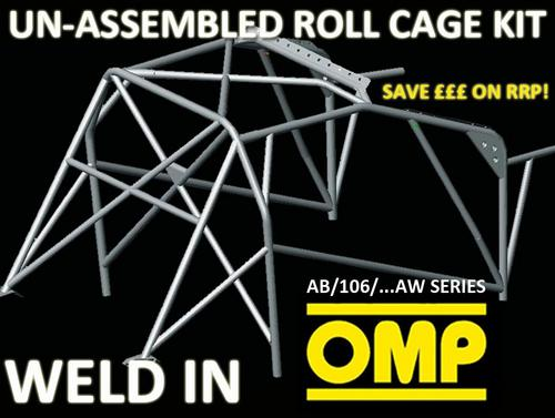 AB/106/129AEW OMP WELD IN ROLL CAGE KIT PEUGEOT 106 ALL 3 DOOR XSI RALLYE GTI