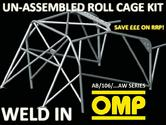 AB/106/217AW OMP WELD IN ROLL CAGE KIT PEUGEOT 206 3-DOOR inc GTI XSI S16 GTI180