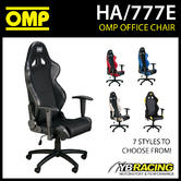 NEW! HA/777E OMP RACING SEAT WHEELED OFFICE CHAIR SEAT ON WHEELs inc BASE!