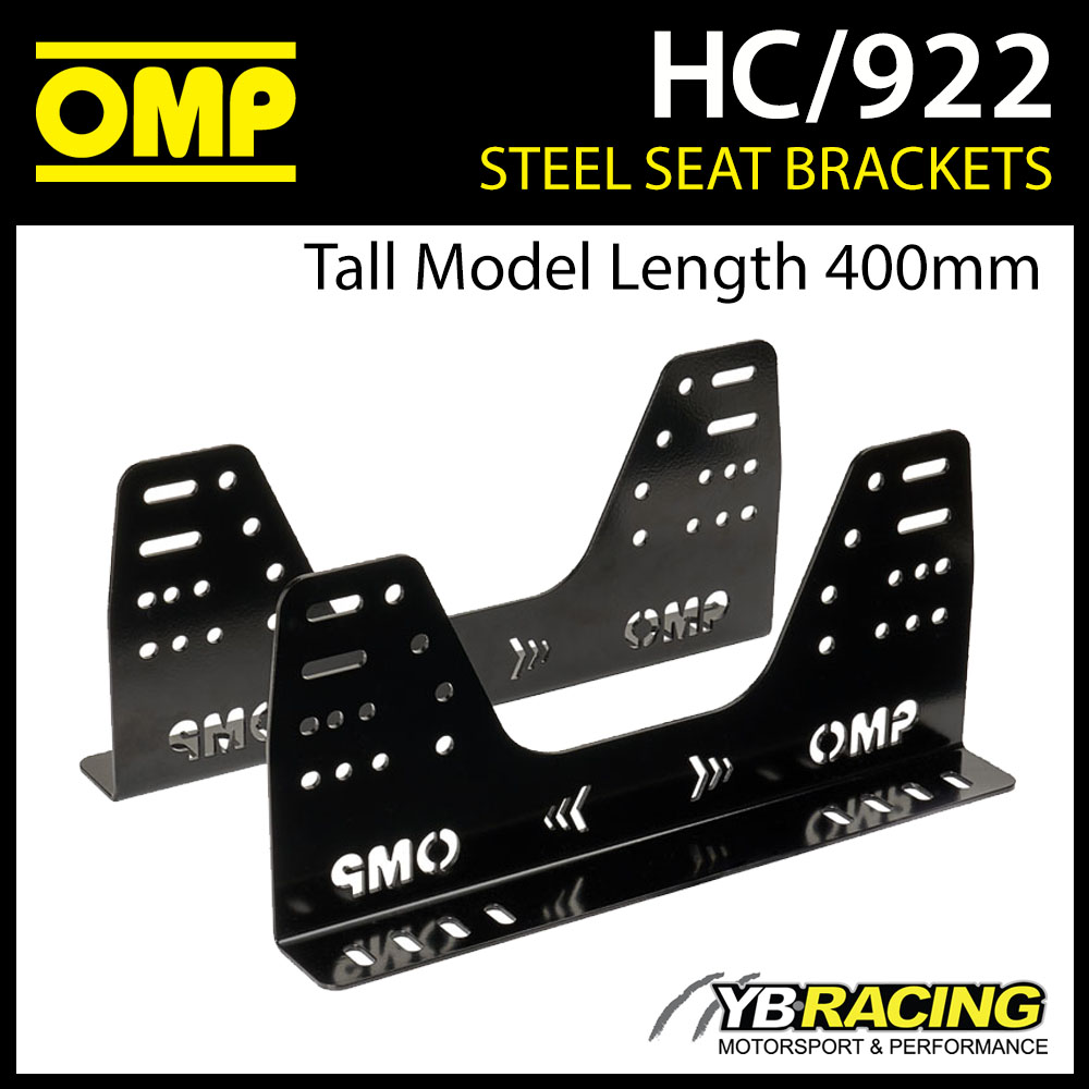 NEW! HC/922 OMP RACING SEAT STEEL SIDE MOUNT BRACKETS (TALL MODEL 400mm LENGTH)