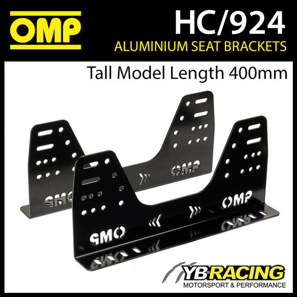 HC/924 OMP ALUMINIUM RACE SEAT SIDE MOUNT BRACKETS ULTRA STRONG in 6mm FIA