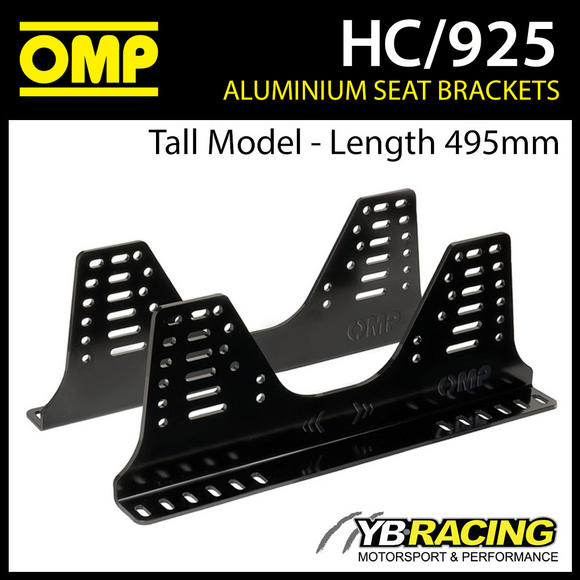 HC/925 OMP SEAT SIDE MOUNT BRACKETS (TALL MODEL) ULTRA STRONG 6mm ALUMINIUM