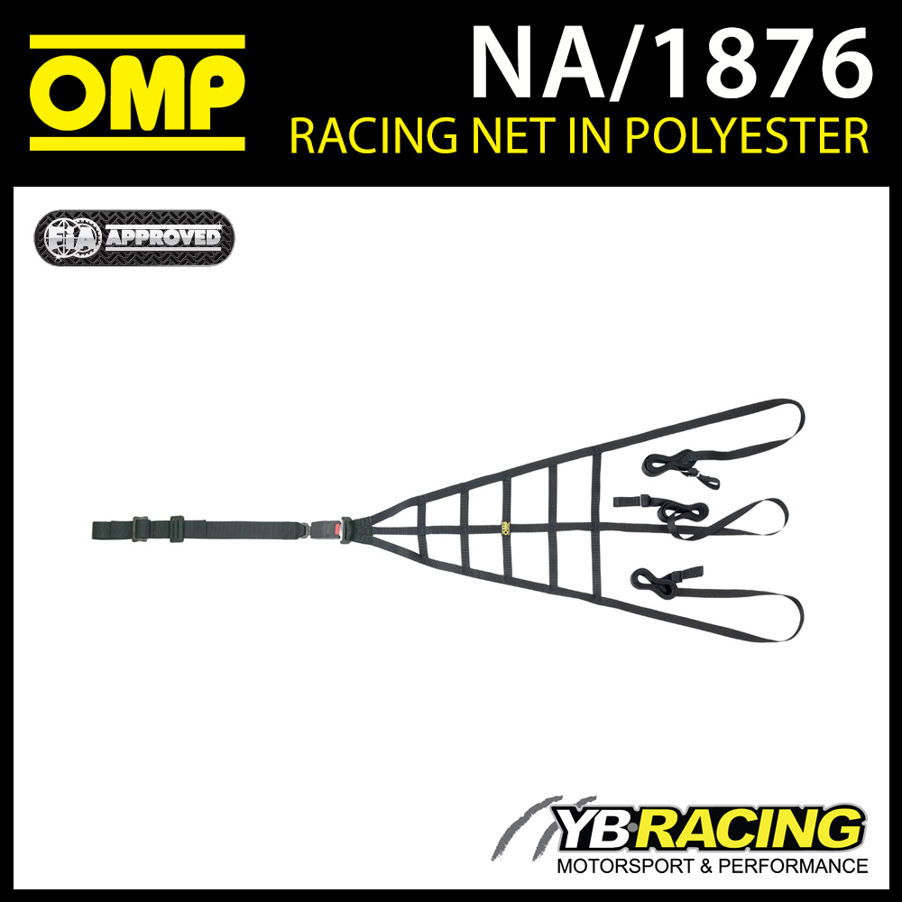 NEW! NA/1876 OMP RACING PROFESSIONAL SAFETY NET WITH QUICK RELEASE FIA 8863-2013