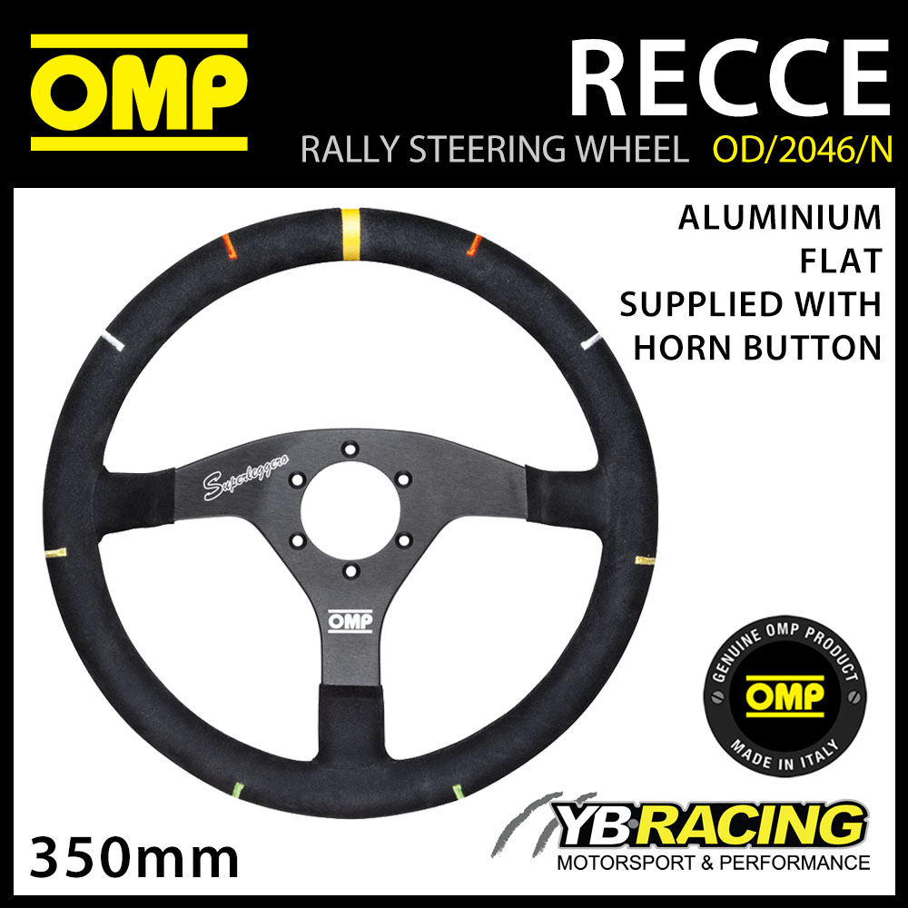 OD/2046/N OMP RECCE ALUMINIUM STEERING WHEEL SUPER PROFESSIONAL RALLY WRC