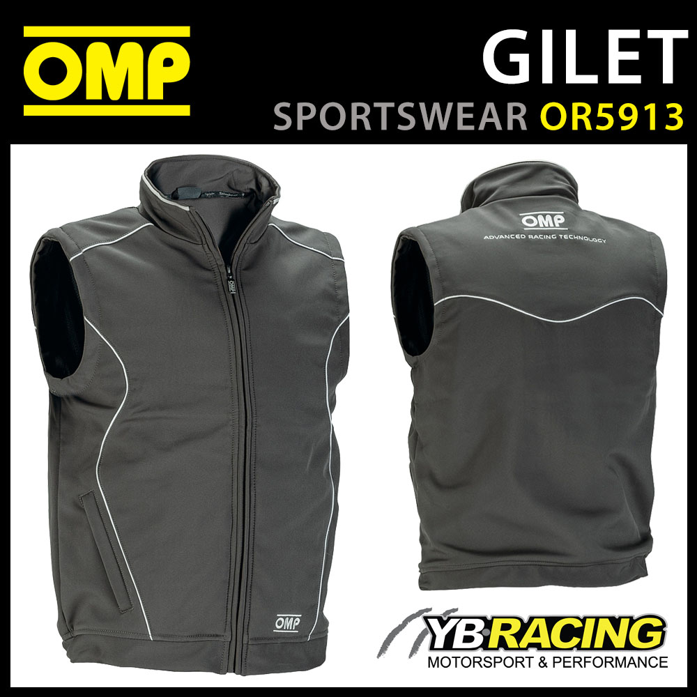 OR5913 OMP Racing Spirit Softshell Sports Gilet Windproof Breathable S-XXL