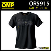 New! OR5915 OMP Rally T-Shirt Cotton Fabric in Black Adult Sizes XS-XXXL