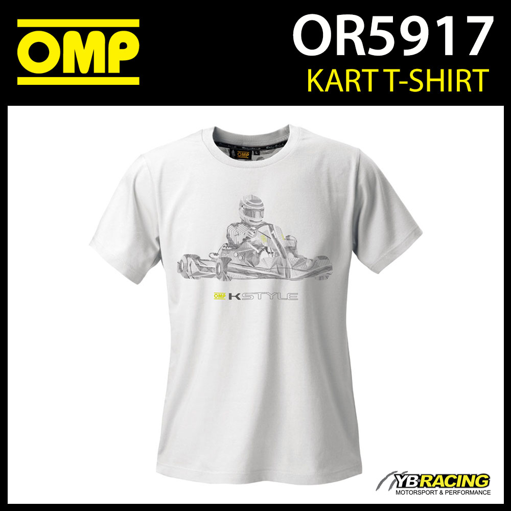 New! OR5917 OMP Kart Karting K-Style T-Shirt Cotton Fabric Adult Sizes XS-XXXL