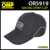 New! OR5919 OMP Racing Spirit Sports Cap 100% Cotton in Anthracite Adult Size