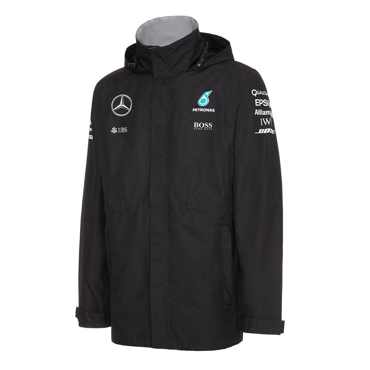 New 2016 mercedes amg f1 team lewis hamilton mens rain for Mercedes benz women s jacket