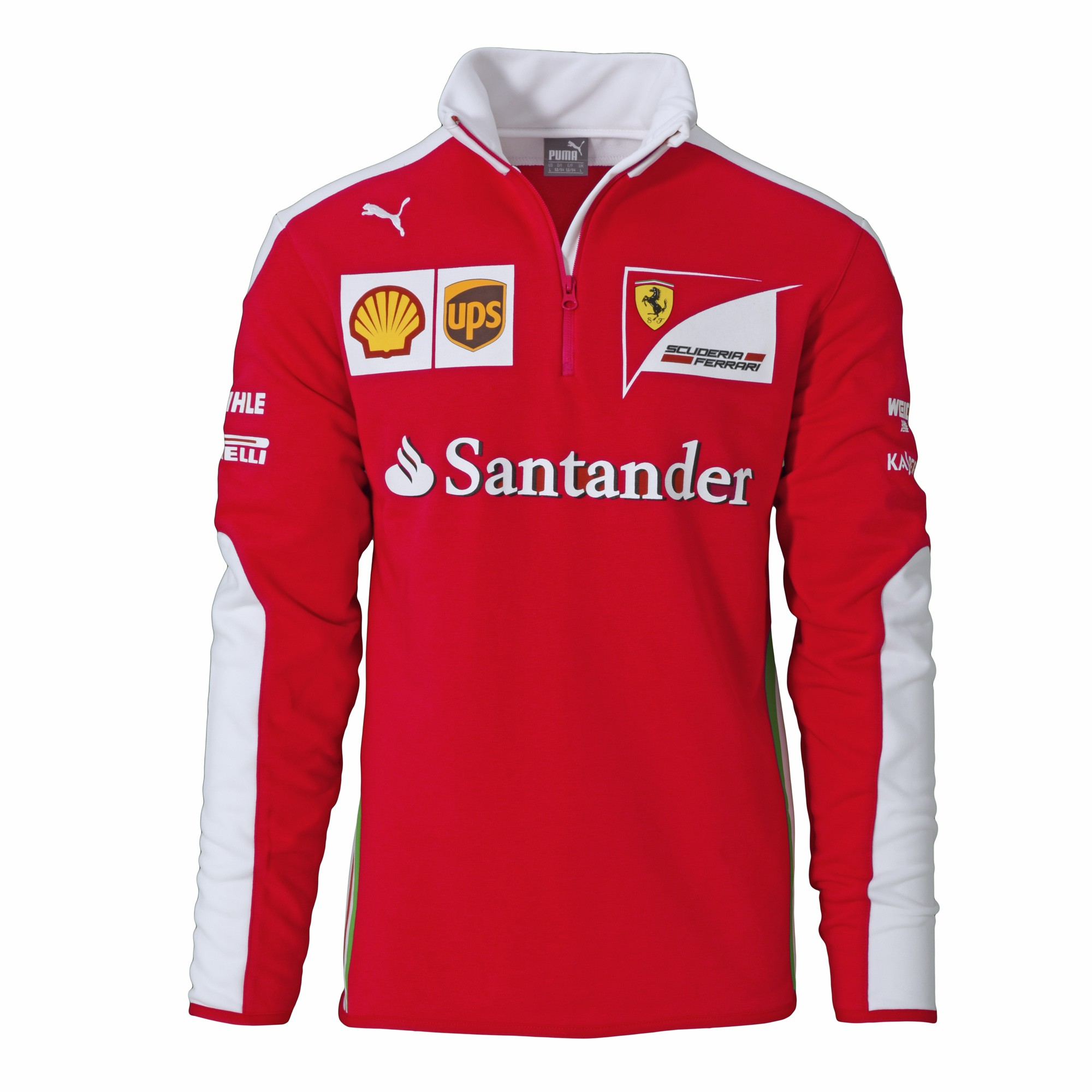 20a52bb4c344 2016 Ferrari Formula One F1 Mens SF Team Half Zip Fleece Sweatshirt Red