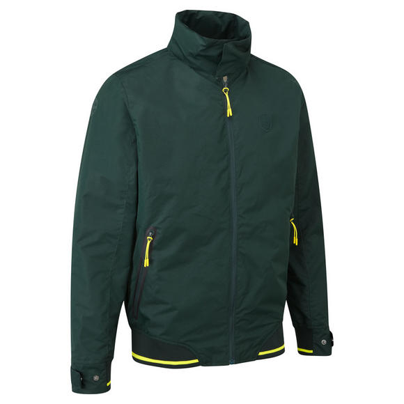 New! Lotus Cars Official Collection Mens Casual Jacket Green/Yellow with Hood