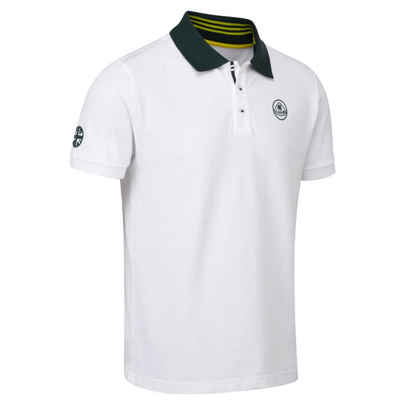 New! Lotus Cars Classic Mens Polo Shirt White/Green Short Sleeve 100% Cotton