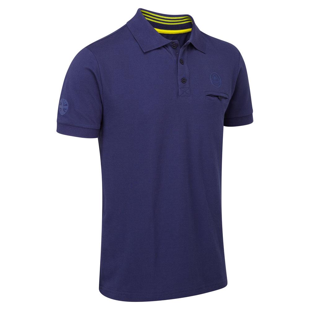 Lotus Cars Classic Mens Polo Shirt Dark Blue Short Sleeve 100% Cotton