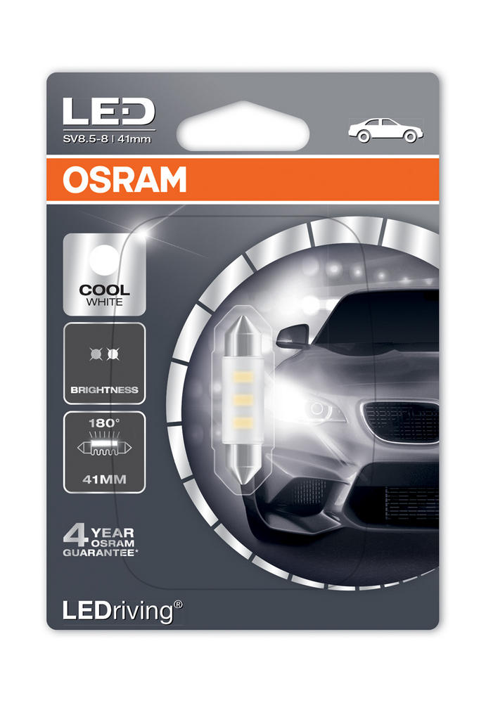 Osram LED 6000K Cool White C5W (264) 41mm Festoon LED Interior Bulb 6441CW-01B