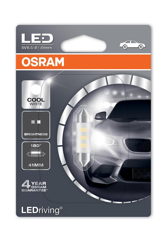 Osram LED 6000K Cool White C5W (264) 41mm Festoon LED Interior Bulb 6441CW-01B