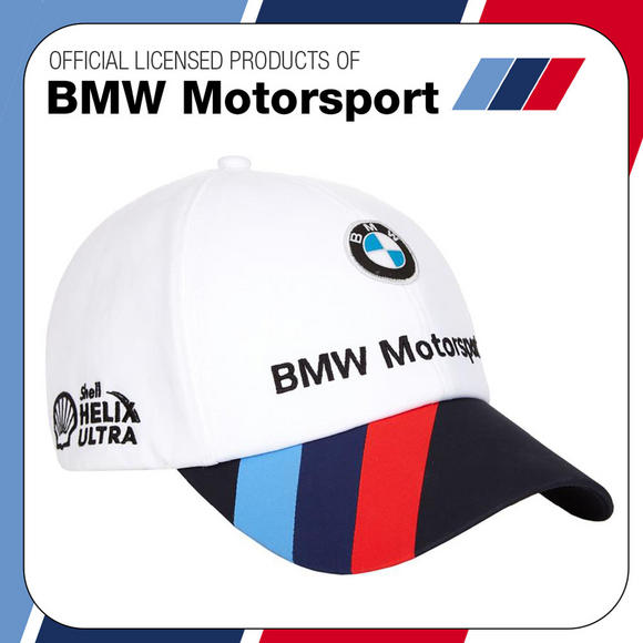 New! 2017 Official Puma BMW Motorsport Race Team Cap White/Blue - Adult One Size
