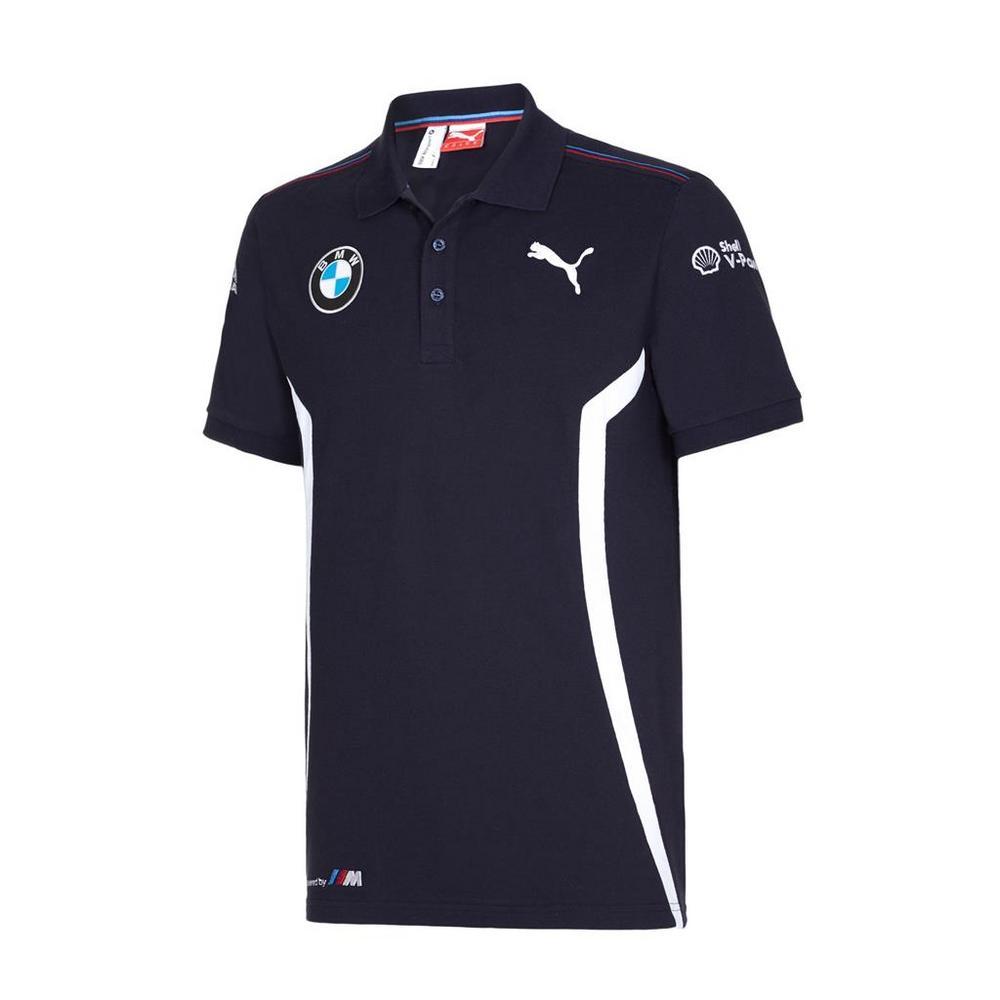/New! 2016 Puma BMW Motorsport Mens Team Polo Shirt Blue