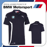 New! 2016 Puma BMW Motorsport Mens Team Polo Shirt Blue/White All Sizes