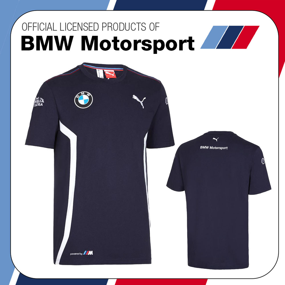 new 2016 puma bmw motorsport mens team t shirt tee blue. Black Bedroom Furniture Sets. Home Design Ideas