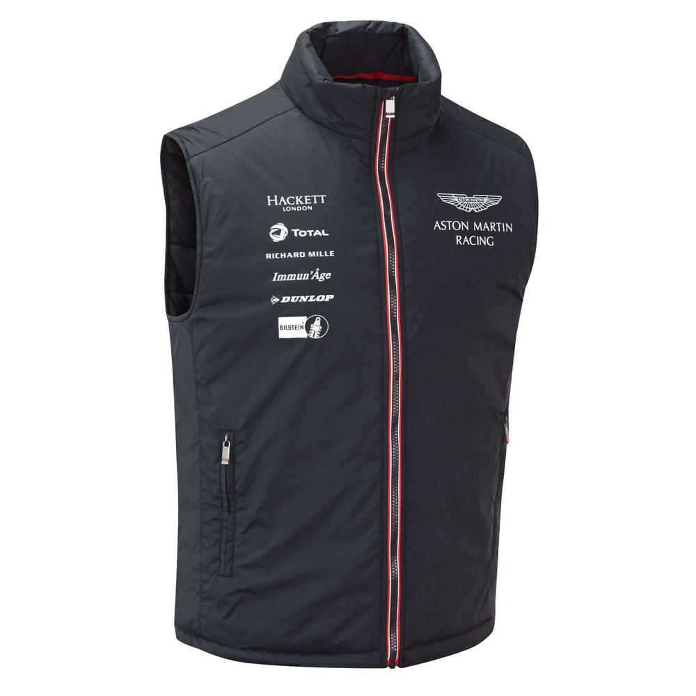 new 2016 aston martin racing team mens gilet waistcoat jacket sizes xs xxxl aston martin. Black Bedroom Furniture Sets. Home Design Ideas