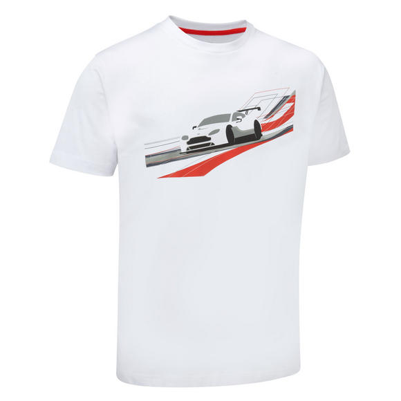 New! 2016 Aston Martin Racing Car Graphic T-Shirt White Mens Sizes XS-XXXL